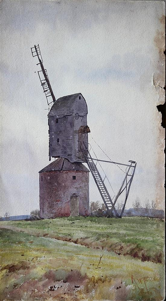 Robert Winchester Fraser (British, 1848-1906) A Post Mill signed bottom right
