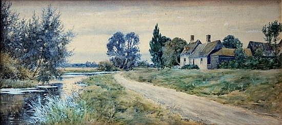 Robert James Winchester Fraser (signs as Robert Winter) (British, 1856-1921) The Front at Holywell, unsigned