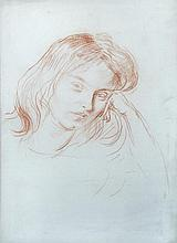 § Augustus Edwin John, OM, RA (British, 1878-1961) - Portrait of Alexandra (Alick) Schepeler, red chalk