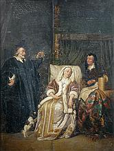 Pieter Cornelisz van Slingelandt (Dutch, 1640-1691) after Gabriel Metsu (Dutch, 1629-1667) The Doctor's Visit