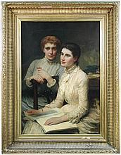 James Sant, RA (1820-1916) - Portrait study of the Filleul cousins, oil on canvas, circa 1882- to be delivered