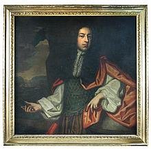 Circle of Sir Peter Lely (British, third quarter of the 17th Century) Portrait, presumably of Sir Frances Dayrell, oil on canvas