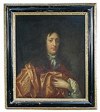 Attributed to John Hayls (British, circa 1645-1679) Portrait of a gentleman, half length, oil on canvas