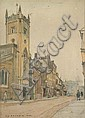 F W Baldwin - St Clement's Church, Bridge Street, Cambridge - watercolour, Frederick William Baldwin, Click for value