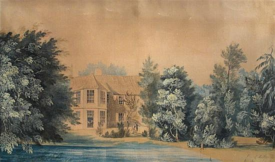 Jean Claude Nattes (1762-1822)  - View of Parsonage House