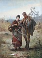 Alexander Rosell (British, 1859-1922) How's My Lass ? signed lower left