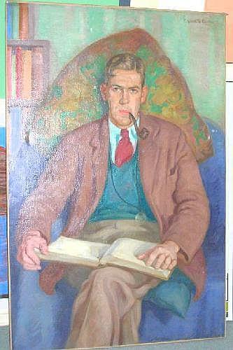 Edward Kenneth Center (British, b.1903) Portrait