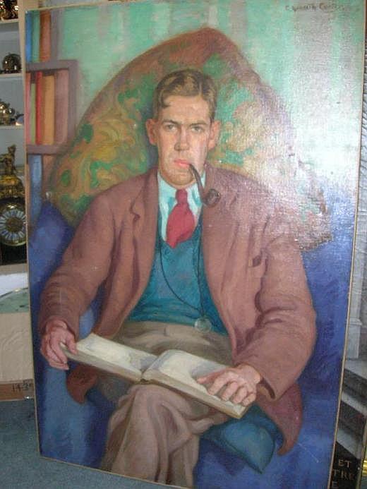 Edward Kenneth Center, (British, b.1903) Portrait