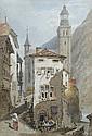 Paul Sandby Munn (British, 1773-1845) -  Vioge near Genova  - watercolour