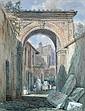 Louis Laurent Raze (British, 1805-1872)    - The Studio of Shaspeare Wood, Rome - watercolour