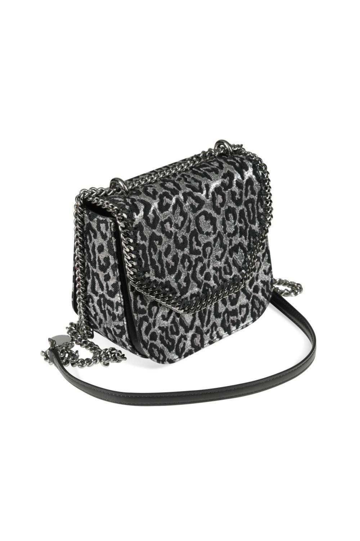 Stella McCartney, a mini Falabella box leopard print crossbody handbag,