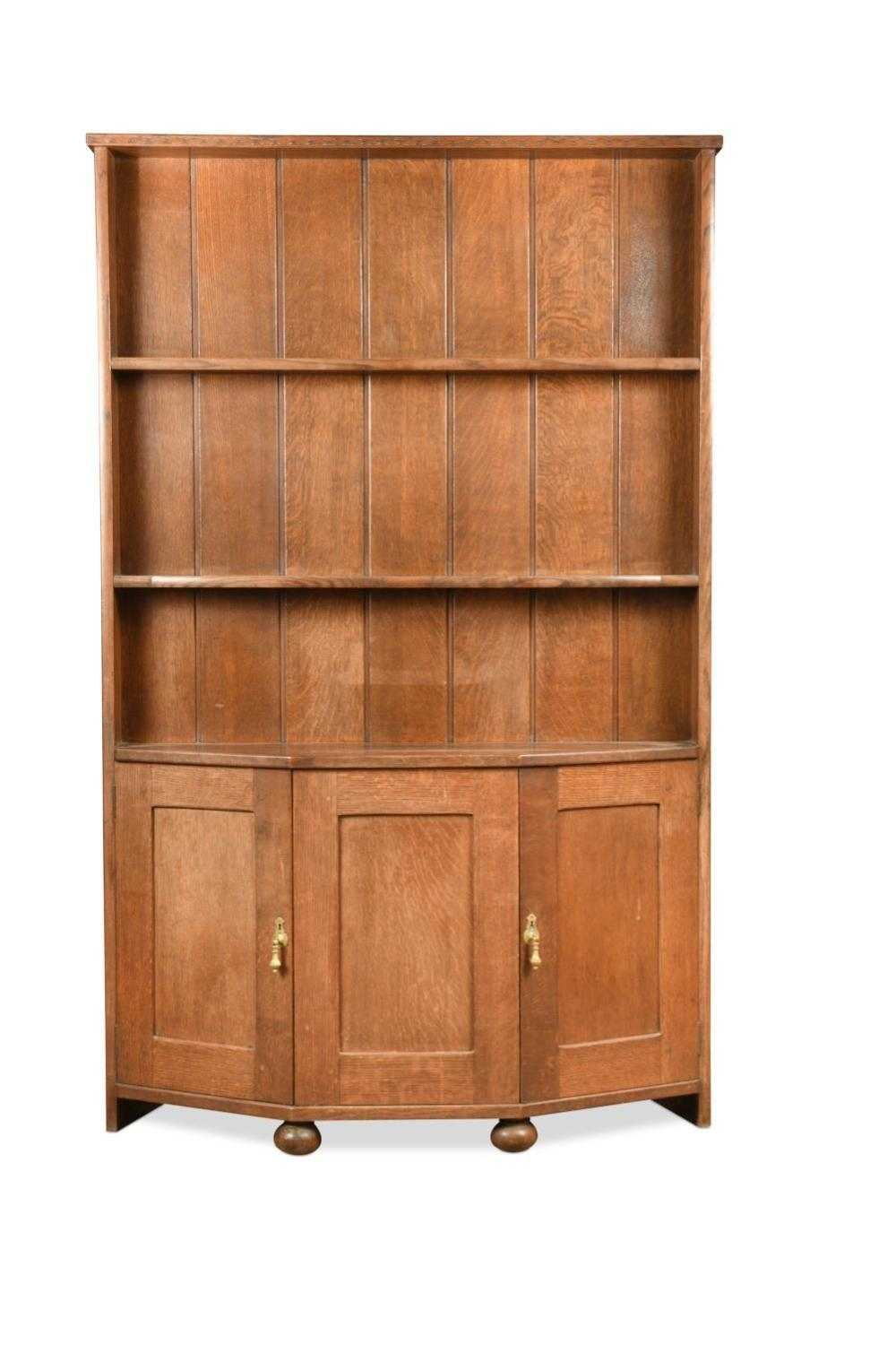 Attributed to Arthur Romney Green, a Cotswold style oak dresser, circa 1910,