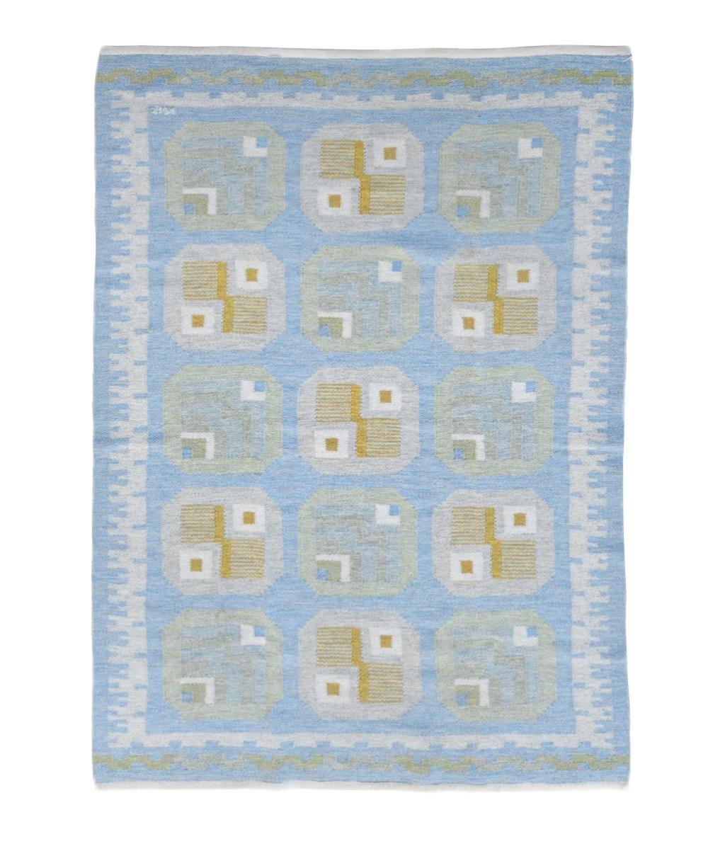 Svea Wahlqvist Norén (Swedish, 20th century), a flat weave 'rölakan' carpet,