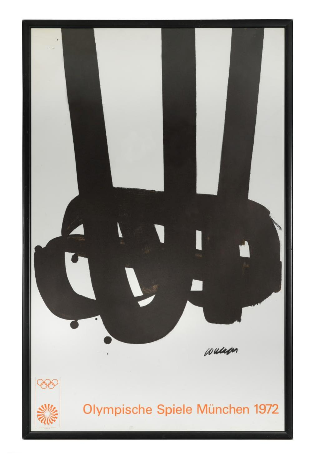 After Pierre Soulages (French, born 1919), 1972 Munich Olympic Games Poster,