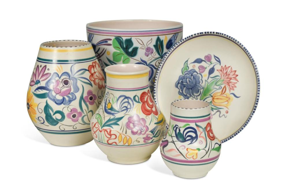 A small collection of Poole Pottery, circa 1960,