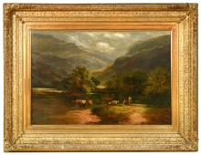 """Sidney Richard Percy (British, 1821-1886) Betws-y-Coed, Wales signed """"S R Percy"""" lower right"""