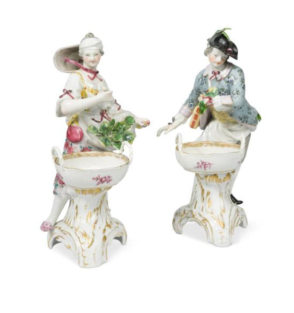 A pair of Berlin figural table salts,