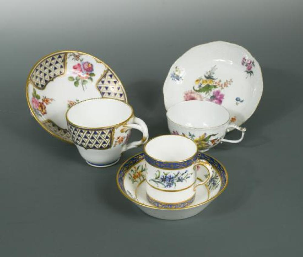An 18th century Sevres cup and saucer,