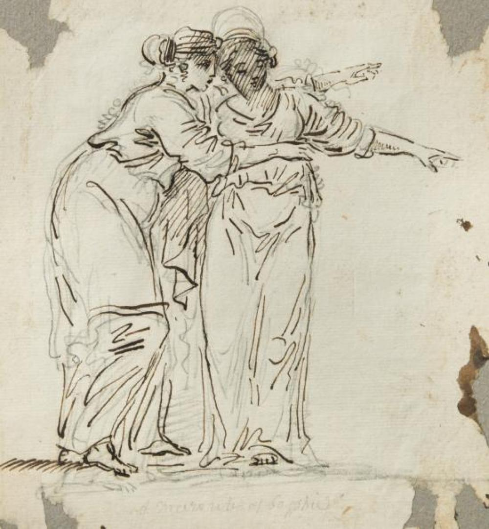 Continental School, 18th Century Maidens in classical dress; Neptune and Theopane; A beggar brought before a young gentleman in an i...