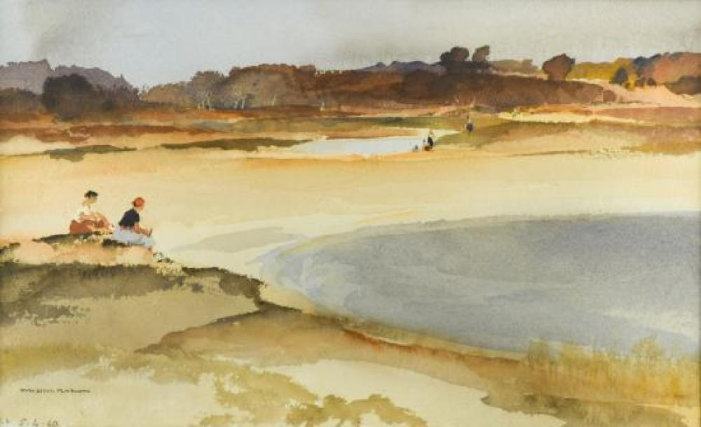 "§ Sir William Russell Flint, RA, PRWS, RSW (Scottish, 1880-1969) Moorland Pools signed lower left ""W Russell Flint"" and dated in pen..."