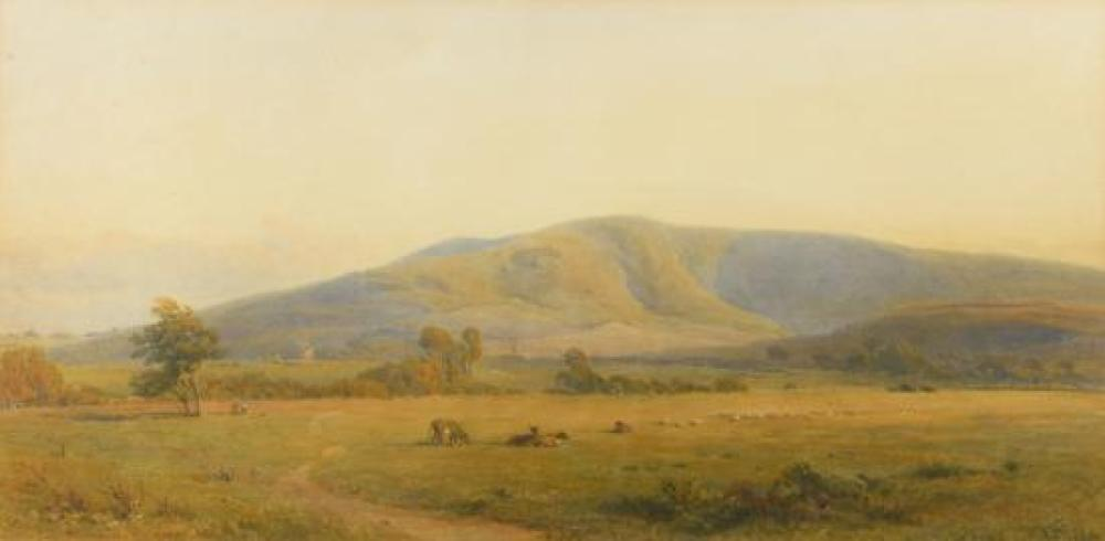 "Henry George Hine (British, 1811-1895) Willingdon Hill, Eastbourne, Sussex inscribed with title lower left and signed lower right ""H..."