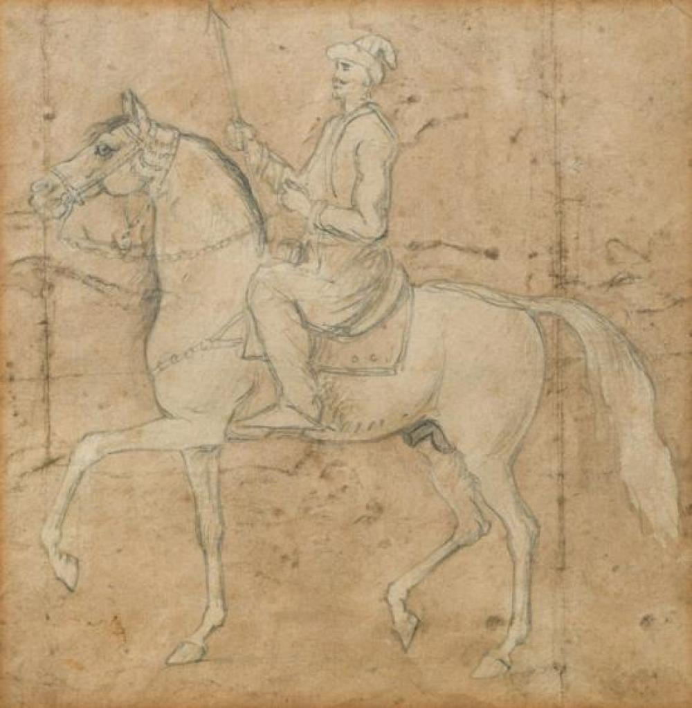 Mughal School, possibly 19th Century, or earlier Horse and rider