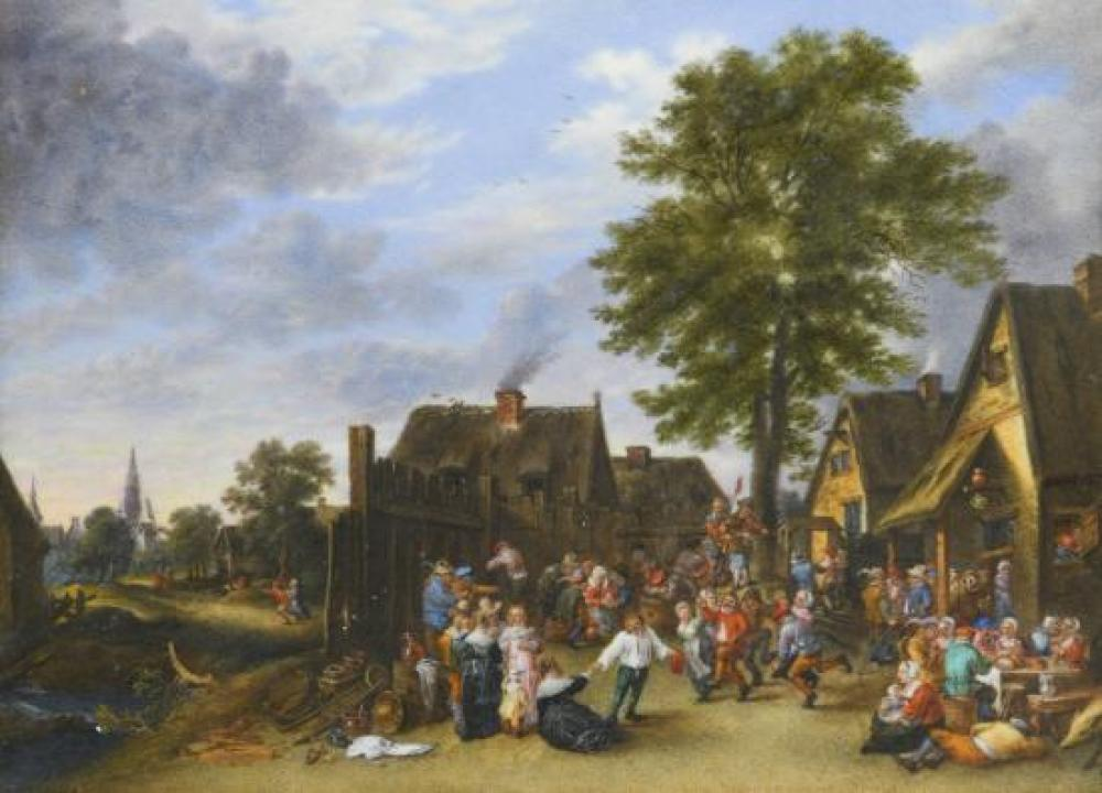 After David Teniers the Younger (Flemish, 1610-1690) The Kermesse at the Half Moon Inn