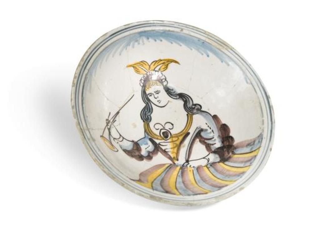 An 18th century Delft polychrome bowl,
