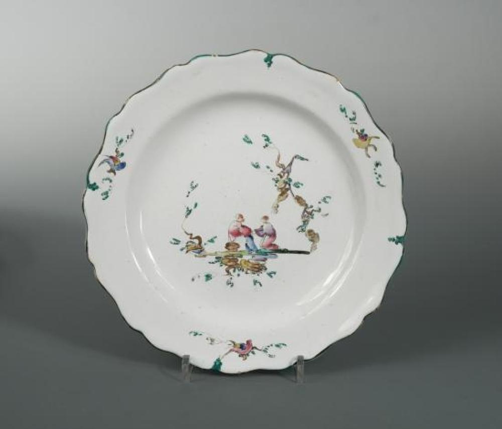 An 18th century French Marseille faience plate,