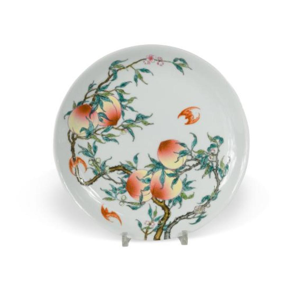 A Chinese porcelain shallow dish, Republic Period (1912-1949),