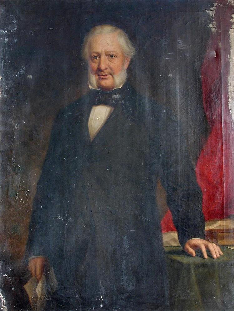 A Keith (Scottish, 19th Century) - Portrait of Robertson Buchanan Stewart - signed on the reverse