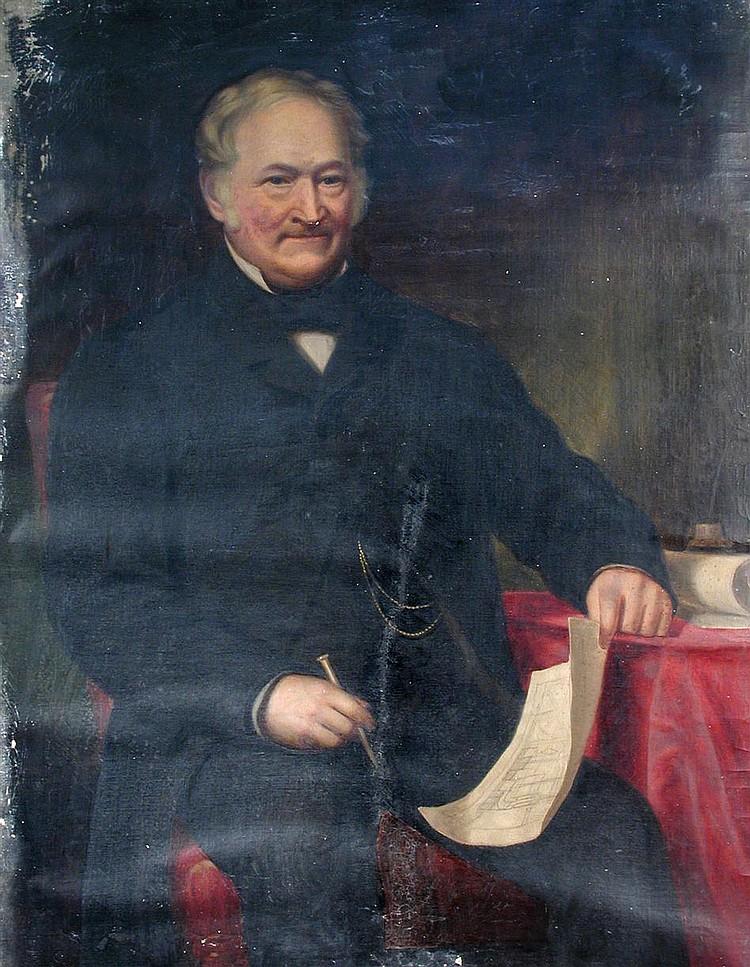 Scottish School (19th Century)- Portrait of John Macdonald Esq - oil on canvas