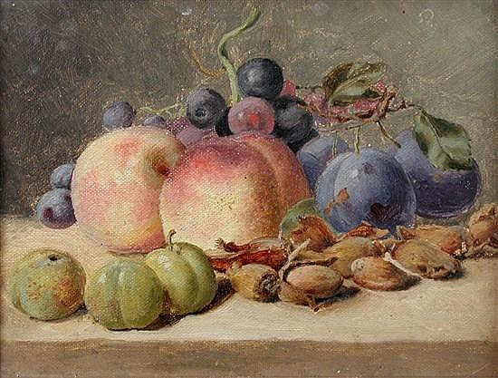 Alfred Richardson Barber - Still Lfe of Fruit - oil on canvas