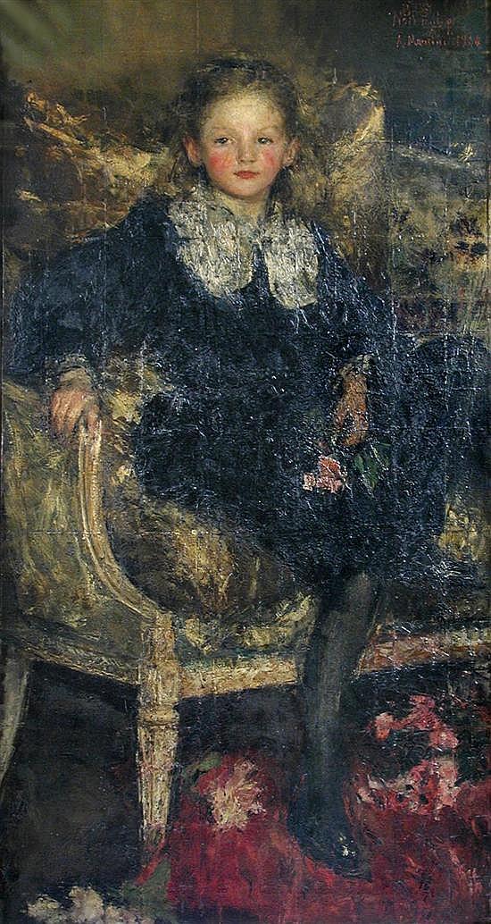 Antonio Mancini - Portrait of Miss Elizabeth Williamson