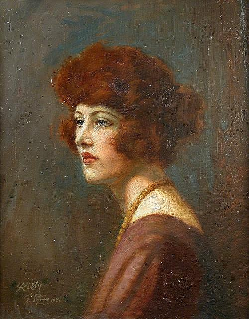 Geoffrey Squire (British, 20th Century) Portrait
