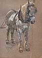 Richard Henry Brock Study of a Heavy Horse signed, Richard Henry Brock, Click for value