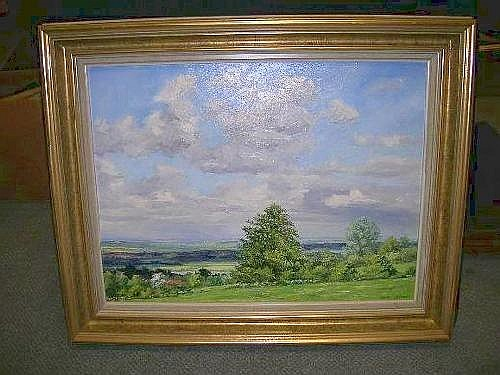 DDS. Brian Bennett (English, 20th Century), East Anglian Skies, signed lower right 'Brian Bennett', oil on canvas, 44 x 59cm