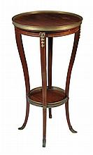 A French mahogany and ormolu mounted gueridon, circa 1905