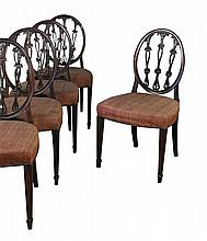 A set of eight Hepplewhite style mahogany dining chairs, circa 1870