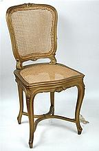 A gilt framed salon chair, circa 1905