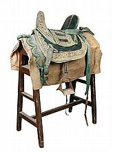 An Indian ceremonial saddle, 19th century,