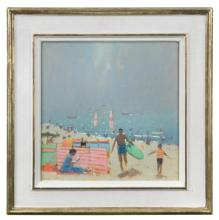 § Stephen Brown, RBA (British, b.1947) Sidmouth Beach signed with initials 'SB' (lower left)