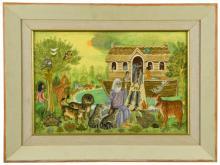 § Sheila Flinn (British, b.1929) Noah's Ark signed 'Sheila Flinn' (lower right)