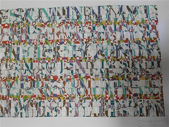 § Tom Phillips (British, b. 1937) The Sound In My Life, 1986 signed lower right