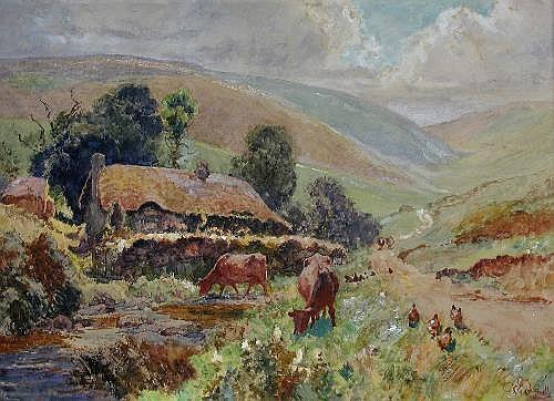 Ernest Pile Bucknall (British, 1861-1919) Cattle