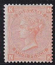 4d, Plate 14, (NK) vermillion, unmounted mint,