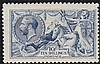10s Deep blue worn plate Seahorse, unmounted mint,