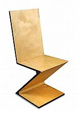 After Gerrit Rietveld, A ZigZag Chair,