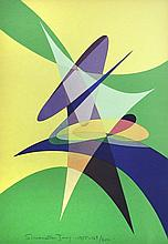 § Simonetta Jung (Italian, 1917-2005) Concrete Art Movement folder of six 1955 lithographs, from an edition of 200, published in Mil...