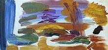 § Ivon Hitchens (British, 1893-1979) - Autumn woodland with a distant fir tree